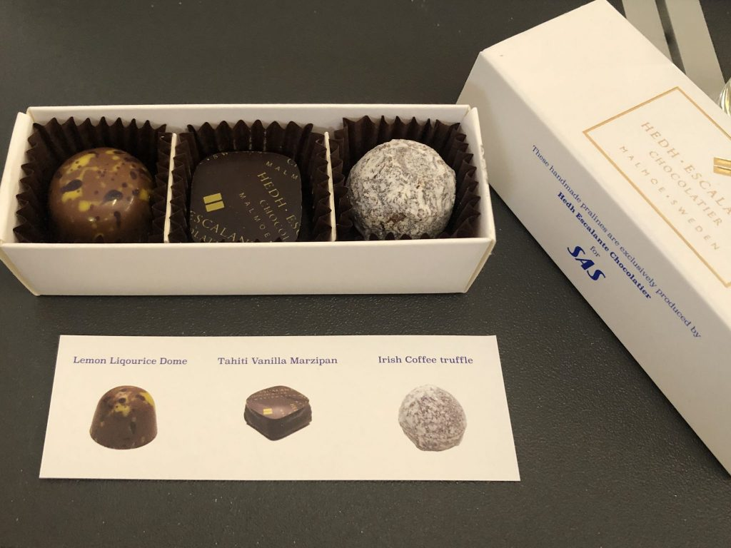Three chocolates in a box
