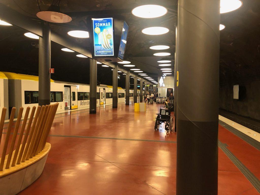 Arlanda Express station at Stockholm Arlanda airport